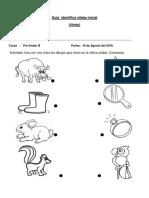 Guía silaba rimas