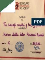 semester 4s certificate