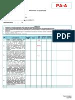 Modelo de Programa de Auditoria