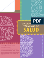 Dicccionario de Términos de Salud - Spanish Version.