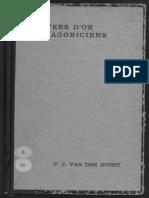 Horst, P. C. Van Der, Les Vers d'or Pythagoriciens (1932)