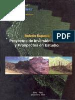 BOLETIN Nº 023- ESPECIAL- PROYECTOS DE INVERSION MINERA Y PROSPECTOS EN ESTUDIOS.pdf