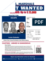 U.S. Marshals Wanted Flyer