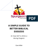 A simple guide to better biblical exegesis