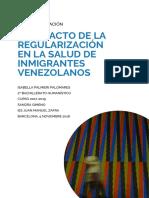 El impacto de la regularización en la salud de inmigrantes venezolanos