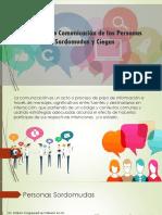 Formas de Comunicación de Las Personas Sordamudas y Ciegas ,