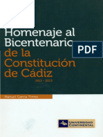 Homenaje al bicentenario de la Constitución de Cádiz 1813-2013
