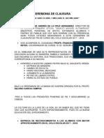 Ceremonia de Clausura 2017 - 2018