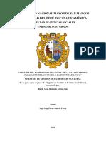Gestión del patrimonio cultural de la Casa Hacienda Caballero relacionada a la identidad local