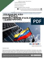 Orações Para a Venezuela - Filhas de São Paulo