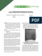 33_401_2002 - Dimensionamento de Isoladores Para Poluição Salina. Um Novo Procedimento e Um Método de Teste de Laboratório