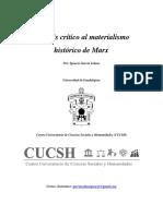 Análisis Crítico Al Materialismo Histórico de Marx