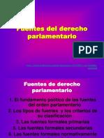 Fuentes Del Derecho Parlamentario Presentacion