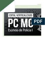 Edital Verticalizado - PC MG - Escrivão de Polícia I