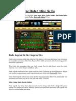 Game Dadu Online Sic Bo LIGA188Official
