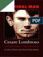Cesare Lombroso-Criminal Man-Duke University Press (2006)