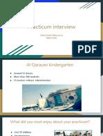 practicum interview