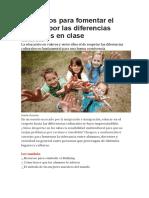 6 Recursos Para Fomentar El Respeto Por Las Diferencias Culturales en Clase