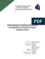 Lab N°2 Cinetica de Descomposicion de H2O2 en ambiente neutro