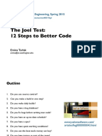 The Joel Test