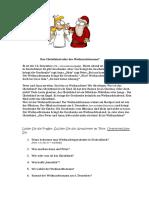Christkind Oder Weihnachtsmann Leseverstandnis 84212