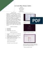 Informe Linux Dhcp Mysql y Samba