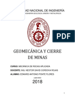 Geomecánica y Cierre de Minas - Cordova