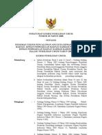 Peraturan  KPU No 18 Tahun 2008