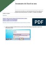 Cómo abrir un documento de Excel en una ventana nueva