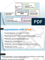 participial adjectives / expressions with mind