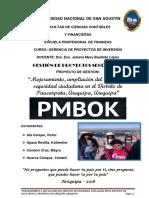 Gestión de Proyectos Según El Pmbok