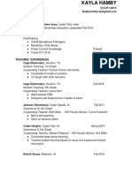 resume teaching print