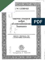 Leibniz g w Nuevos Ensayos Sobre El Entendimiento Humano Seleccic3b3n