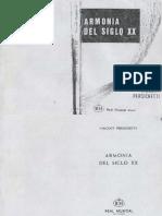 Armonia - Siglo XX Persichetti
