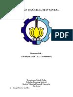 Laporan Praktikum IV Sinyal