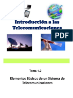 Introducción  a las telecomunicaciones.