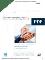05 Dicas Para Escolher o Investidor-Anjo Certo Para Sua Startup (Forbes) - Nahas Advogados