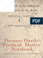 Thomas Hardy - Poetical Matter
