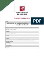 Aplicacion de La Teoria de Las Inteligencias Multiples a Las Ciencias Sociales
