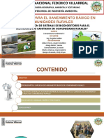 ALTERNATIVAS DE SANEAMIENTO BÁSICO