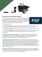 Impresora y Contaminacion
