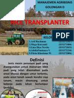 Mna Rice Transplanter