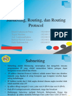 Subnetting, Routing Dan Routing Protocol