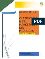 A1. Clasificacion Del Marketing y Del Producto