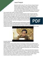 Indonesia Belum Kuasai Freeport
