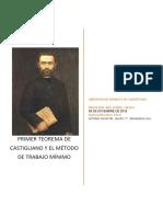 Primer Teorema de Castigliano y El Método de Trabajo Mínimo