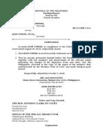 Compliance Sample