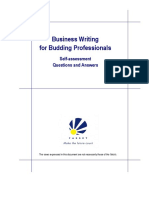 Business Writing for Budding Professionals