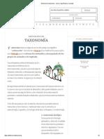 Definición de taxonomía - Qué es, Significado y Concepto.pdf