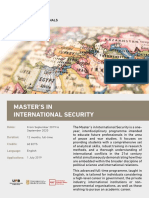 Master International Security